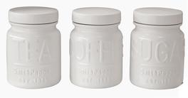 Salt & Pepper Voorraadpot Metro Wit 0.8 Liter - 3 Stuks