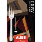 Alessi Amici gebaksvorkjes BG02/34S4 door BIG-GAME