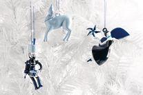 Alessi Blue Christmas Stella kerstfiguur AAA07/1 door LPWK Antonio Aricò