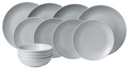 Royal Doulton Gordon Ramsay Maze 12-delige serviesset - light grey