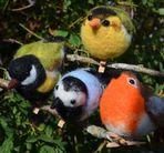 Born in Sweden Deco vogels - assorti - 4 stuks