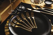 Sambonet Taste gebaksvork - 6 stuks - goud
