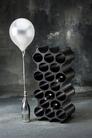 Koziol Set-up wijnrek 36cm - zwart - 2 stuks