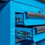 Hoekwerkbank met MDF blad + gereedschapskast blauw 5