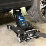 Hydraulische autokrik - 2,5 ton + Verrijdbare garage ligkar extra lang 1