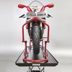 Motorheftafel met paddockstand rood