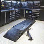 Zwarte motorheftafel 450 kg laagste stand