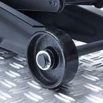 Stevige wielen onder de garagekrik compact 2 ton