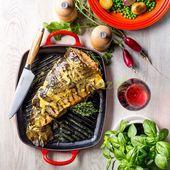 Le Creuset grillplaat rechthoekig kersenrood 30 x 27 cm sfeer