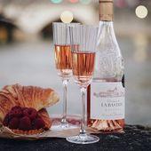 Cristal d'Arques champagneglazen Macassar 17 cl - 2 stuks sfeer