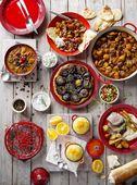 Le Creuset ontbijtbord kersenrood Ø 22 cm sfeer