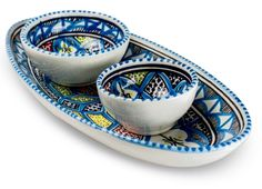 Dishes_Deco_Ovale_Schaal_Turquoise_Blue_set