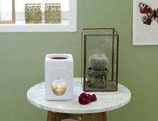 Bolsius brander Aromatic Vierkant wit sfeer