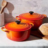 Le Creuset braadpan Signature oranje-rood sfeer