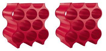 Koziol Wijnrekken Stapelbaar Set-Up Rood - 2 Stuks