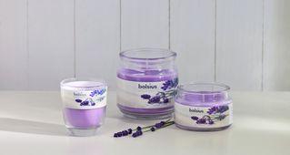 Bolsius geurkaars in glas Aromatic French Lavender 120/100 mm sfeer