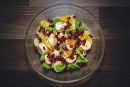 Sfeerfoto glazen salade kom