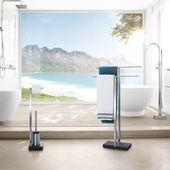 Blomus Menoto toiletrolhouder en borstel - zwart