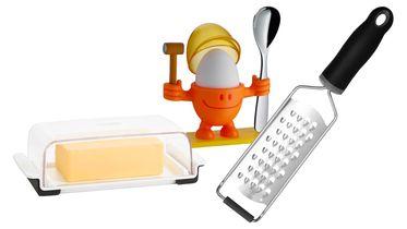 Mantequilla, Queso y Huevos