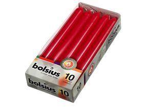 Bolsius Dinerkaars Wijnrood - 10 Stuks
