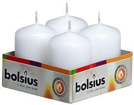 Bolsius Stompkaars Wit 60/40 mm - 4 Stuks