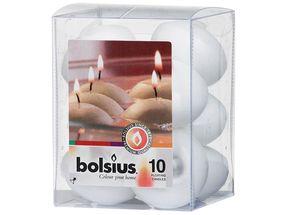 Bolsius Schwimmkerzen Weiß - 10 Stück
