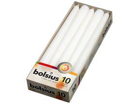 Bolsius Gotische kaarsen wit - 10 stuks