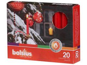 Bolsius Kerstboomkaarsjes Rood - 20 Stuks