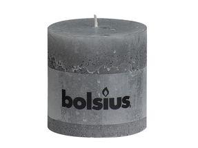 Bolsius stompkaars Rustiek XXL lichtgrijs 100/100 mm