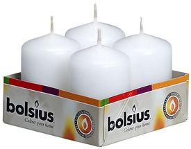 Bolsius Stompkaarsen Cello Wit 60/40 mm - 4 Stuks