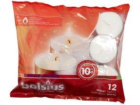 Bolsius Maxi theelichten 10 uren wit - 12 stuks