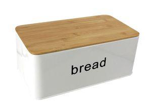 Broodtrommel Met Snijplank Metaal Wit