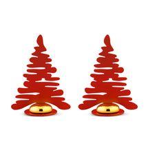 Alessi Kerstboom Set 2-delig Rood BM16S2/R