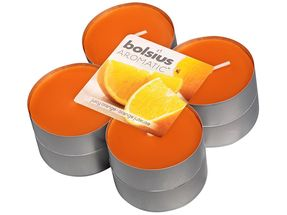 Bolsius maxi geurlichten Aromatic Juicy Orange - 8 stuks