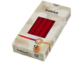 Bolsius Gotische kaarsen wijnrood - 12 stuks
