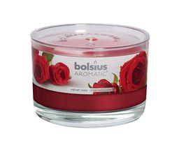 Bolsius geurkaars in glas Aromatic Velvet Rose 63/90 mm
