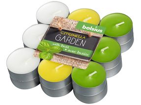 Bolsius geurlichten citronella & basilicum - 18 stuks