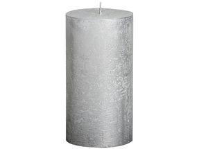 Bolsius stompkaars Metallic zilver 130/68 mm