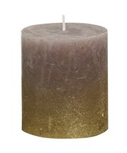 Bolsius stompkaars Fading goud & taupe 80/68 mm