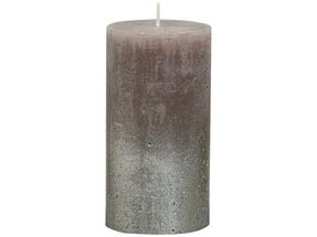 Bolsius stompkaars Fading zilver & taupe 130/68 mm