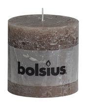 Bolsius stompkaars Rustiek XXL taupe 100/100 mm
