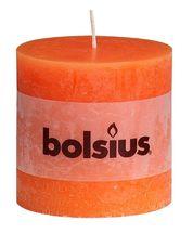 Bolsius stompkaars Rustiek XXL oranje 100/100 mm