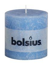 Bolsius stompkaars Rustiek XXL jeans blauw 100/100 mm