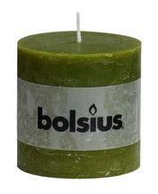 Bolsius stompkaars Rustiek XXL olijfgroen 100/100 mm