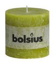 Bolsius stompkaars Rustiek XXL groen 100/100 mm