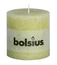 Bolsius stompkaars Rustiek XXL pastel groen 100/100 mm