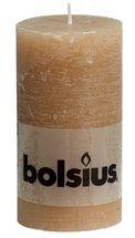 Bolsius stompkaars Rustiek beige 130/68 mm