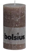 Bolsius stompkaars Rustiek taupe 130/68 mm