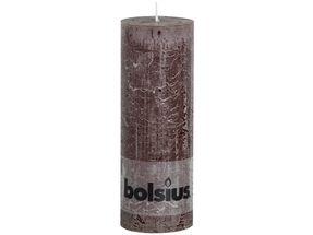 Bolsius stompkaars Rustiek chocoladebruin 190/68 mm