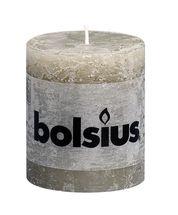 Bolsius stompkaars Rustiek kiezelgrijs 80/68 mm
